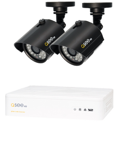 4 Channel HD Security System with 2 HD 720p Cameras QTH41-2Z3-1 Q-See  - Q-See