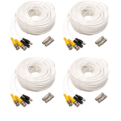 4-Pack 100ft BNC Male Cable with 2 Female Connectors (QS100B4PK) Accessories  - Q-See