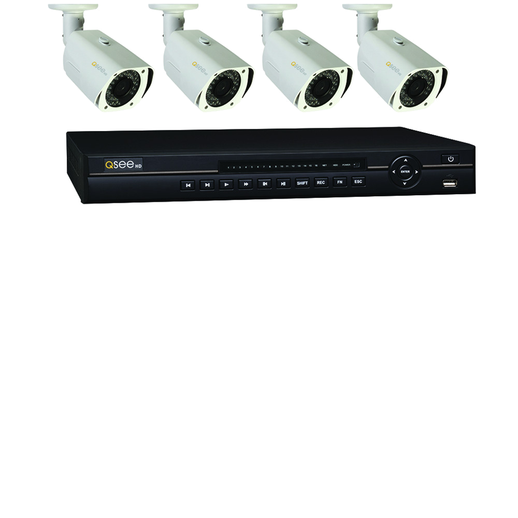 8 Channel Hd Security System With 4 Hd 720p...