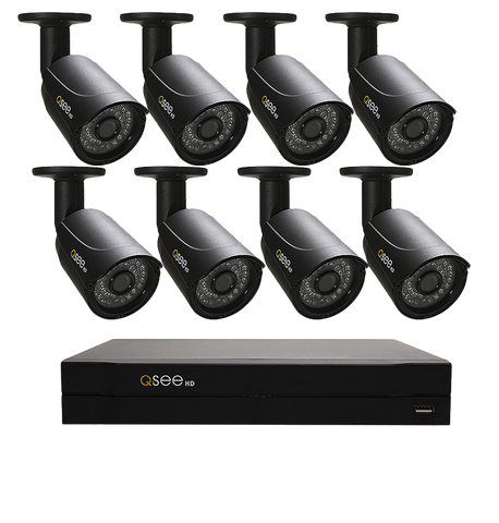 n/a Q-See 8 Channel HD Security System with 8 HD 720p Security Cameras (QC958-8Y5-2)