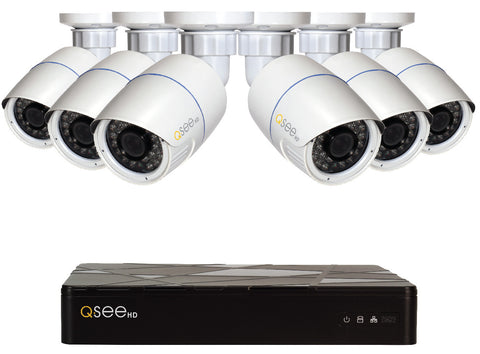 n/a Q-See 8-Channel IP Surveillance System with 6 HD 1080p Cameras QT868-6BC-2