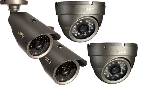 n/a Q-See Reconditioned Four-Pack Weatherproof Cameras QM6009C-4R - 90 DAY WARRANTY