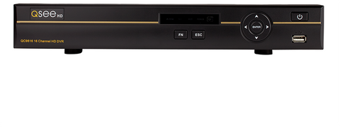 Q-See ANALOG HD 16 Channel Analog HD DVR with 1 Microphone, 3 4MP and 3 1080p Camera (QC9616-6FH-4)