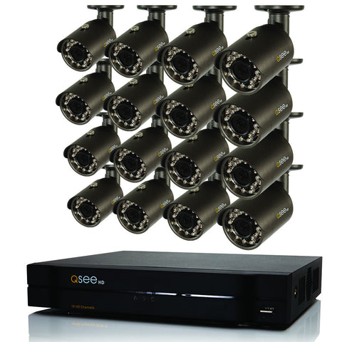 Q-See ANALOG HD 16-Channel HD Security System with 16 HD 1080p Cameras (QC9516-16AX-2)