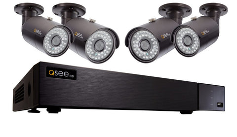 Q-See ANALOG HD 8 Channel Analog HD DVR Security System with 4 4MP Bullet Cameras (QTH85-4DY-2)
