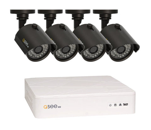 Q-See ANALOG HD KIT 8 Channel 720p Digital Video Recorder with 4 720p HD Bullet Security Camera and 1TB Hard Drive (QTH81-4Z3-1)