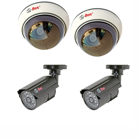 Q-See Cameras 4-Pack Non-Operational Decoy Bullet and Dome Security Cameras (QSD26C4)