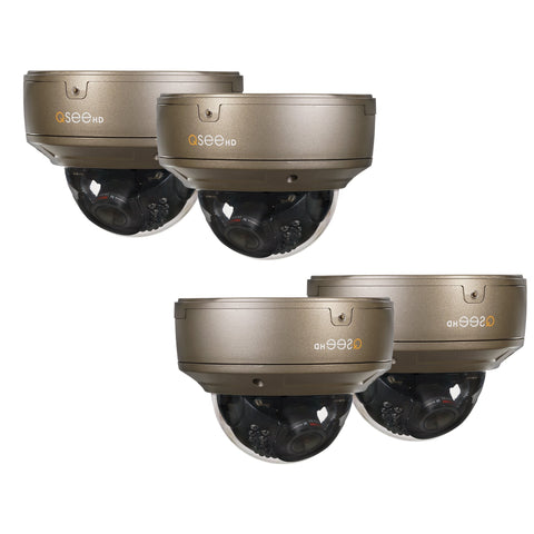 Q-See Cameras IP 4MP HD Varifocal Dome Security Camera-Four Pack (QTN8044D-4)