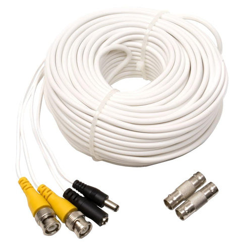 100 ft. Video and Power BNC Male Cable with 2 Female Connector (QS100TC) Accessories  - Q-See