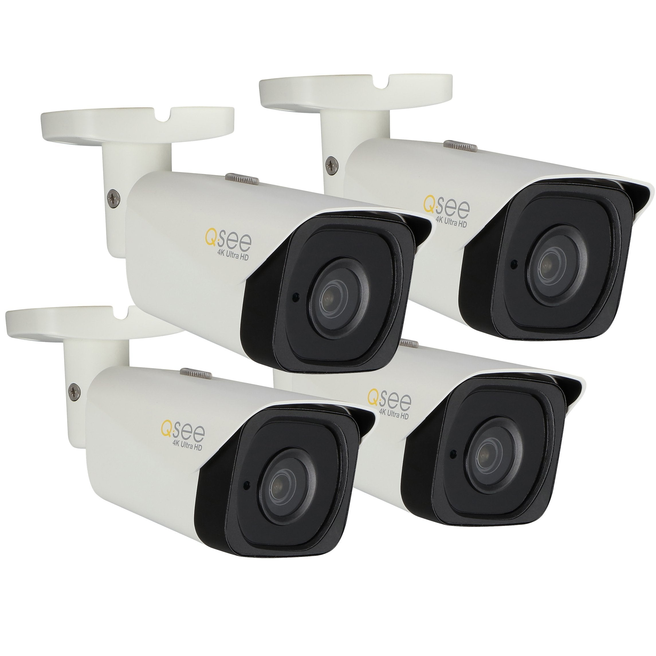 Q-See IP HD Cameras 4K IP HD H.265 Bullet Camera-Four Pack (QCN8090B-4)