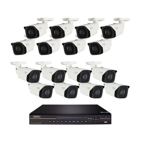 16-Channel 4K Ultra-HD IP Security System with (16) 4K H.265 Bullet Cameras (QC826-16ET-6) IP HD KIT  - Q-See