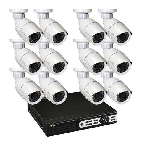 Q-See IP HD KIT 16-Channel 4MP Security System with (12) IP HD 4MP Bullet Cameras and 4TB HDD  (QT8516-12CY-4)