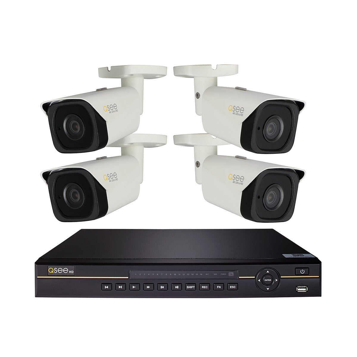 Q-See IP HD KIT 8-Channel 4K Ultra HD IP Security System with (4) 4K IP HD Bullet Cameras (QCK81-4ET-4)