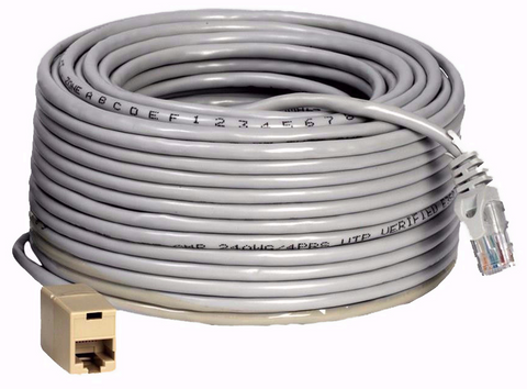100 Foot Cat5e Network Ethernet Cable for use with IP HD Security Systems (QS100N) Accessories  - Q-See