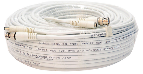 Q-See Q-See 100 Foot RG-59 High-Quality Shielded BNC Cable with 2.1mm Power Connector Adapters (QSVRG100)