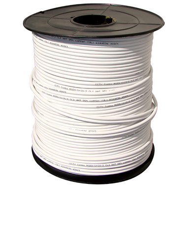 1000FT Siamese RG-59 Shielded Video and Power Cable (QS591000W) Accessories  - Q-See