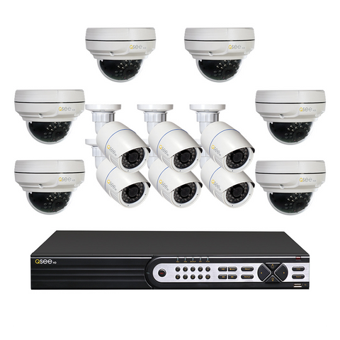 Q-See Q-See 16 Channel IP HD Security System with 12 IP HD 4MP Security Cameras (QT8616-12AB-3)