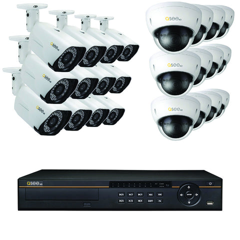 8-Channel IP HD Security System with Four 4MP Security Cameras and Four 4MP Dome Security Cameras (QT878-8CT-2)