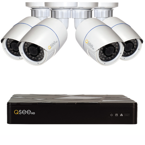 Q-See Q-See 4-Channel IP HD Security System with 4 IP HD 4MP Security Cameras (QT874-4AP-2)