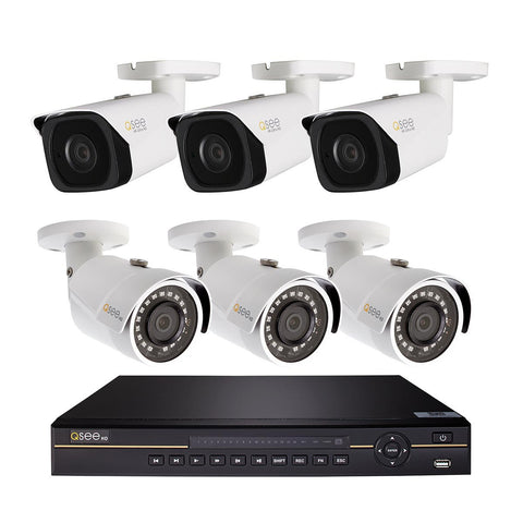 Q-See Q-See 8 Channel 4K NVR with 4TB Hard Drive, Three 4K and Three 3MP Bullet Camera (QCK81-6FG-4)