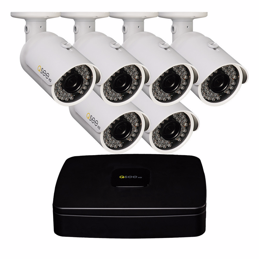 8 Channel Hd Security System With 6 Hd 1080p...