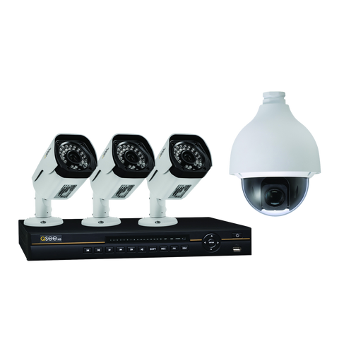 Q-See Q-See 8 Channel IP HD Security System  with 3 1080p IP HD  Bullet Security Cameras and 1 1080p HD IP PTZ Security Camera (QC838-4V5-2)