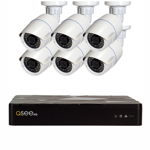 Q-See Q-See 8-Channel IP HD Security System with 6 IP HD 4MP Security Cameras (QT878-6AP-2)