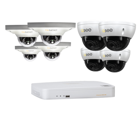 Q-See Q-See 8 Channel IP HD Security System with 8 IP HD 3MP Dome Security Cameras (QC858-8CE-3)