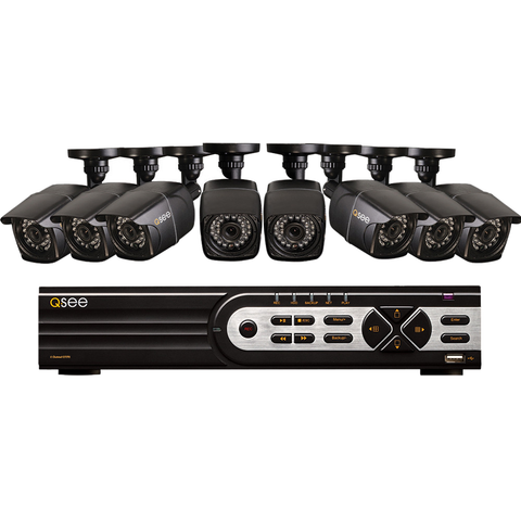 8 Channel Security System with 8  960H/900TVL Bullet Cameras QT578-8E2-1 Q-See  - Q-See