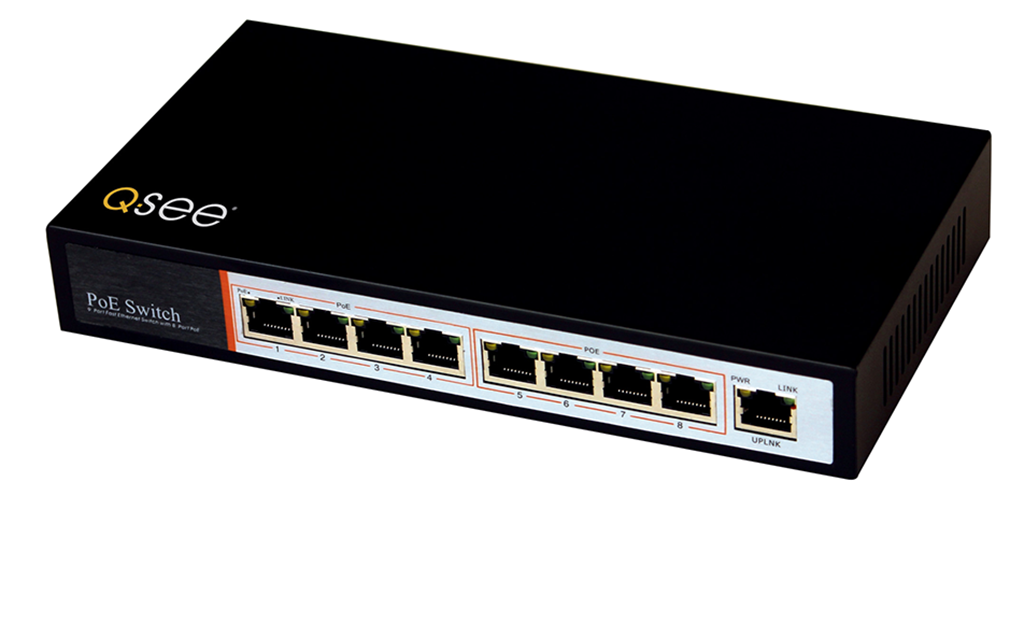 Q-See Q-See 8-Port Power Over Ethernet (POE) Injector for IP Cameras (QAPE801)