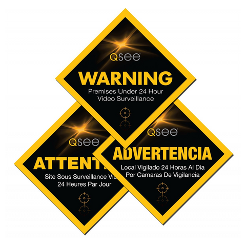 Q-See Q-See Surveillance Warning Labels 12-Pack