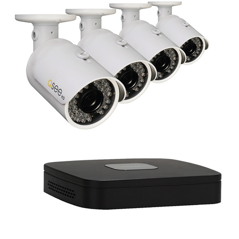 Q-See Reconditioned Reconditioned 4 Channel BNC HD System with 4 HD 1080p Cameras QC904-4Y6-1R - 90 Day Warranty