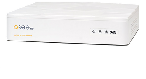 Q-See Reconditioned Reconditioned 8 Channel 720p Digital Video Recorder with 4 720p HD Bullet Security Camera and 1TB Hard Drive QTH81-4Z3-1R - 90 Day Warranty