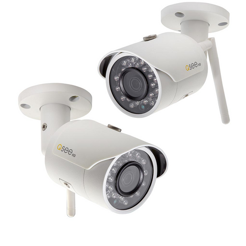 2 Pack Wi-Fi 3MP Bullet Indoor/Outdoor Security Camera with optional 16GB micro SD card (QCW3MP1B-2) Wi-Fi  - Q-See