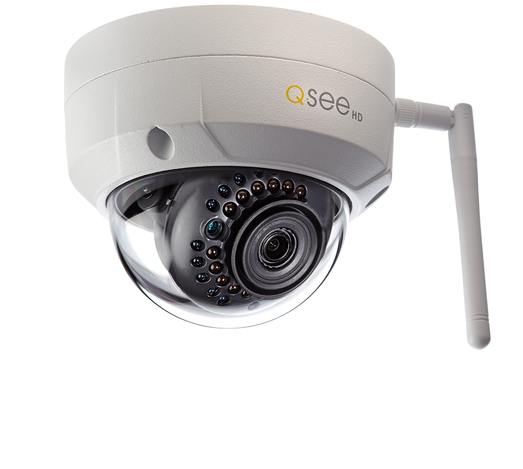 Two-Pack of Wi-Fi 3MP Dome Security Cameras with (2) 16GB micro SD car