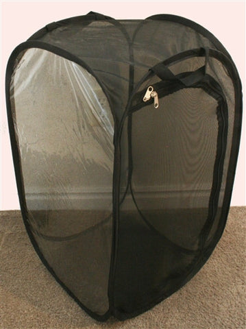 Mesh Popup Cage, Tall (13.5x13.5x24) White or Black