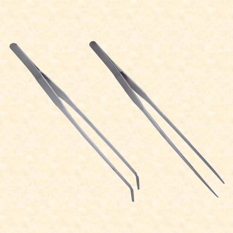 Extra Long Tweezers - Straight or Angled Tip