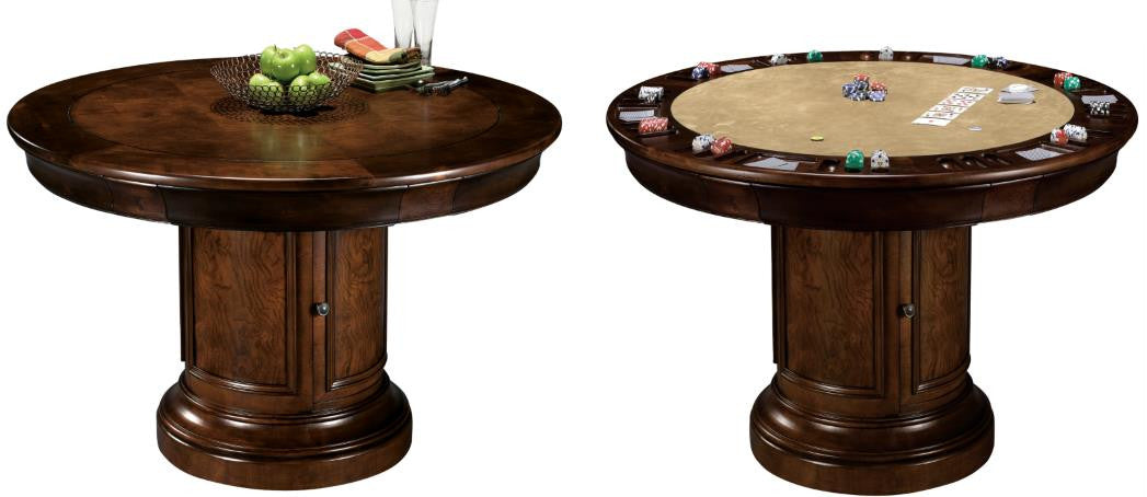 CONVERTIBLE POKER AND DINING TABLE ITHACA BY HOWARD MILLER