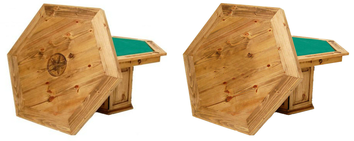 Million Dollar Rustic Poker Table - Star or no star