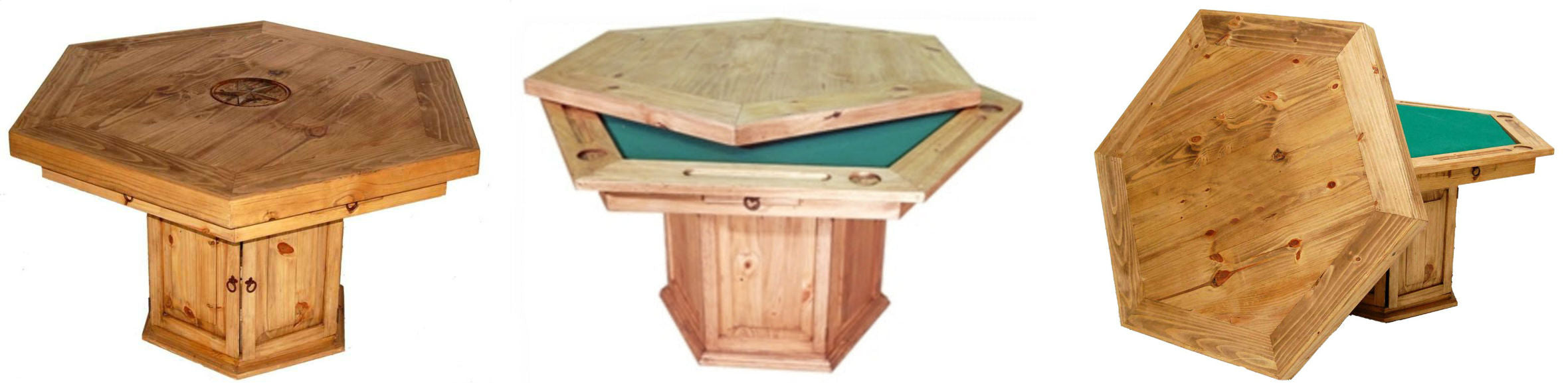 Convertible Poker Table by Million Dollar Rustic