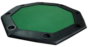 "48"" Green Felt Octagon Folding Table Top with Padded Rail"