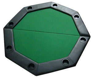 "48"" Green Felt Octagon Folding Table Top with Padded Rail - Americana Poker Tables"