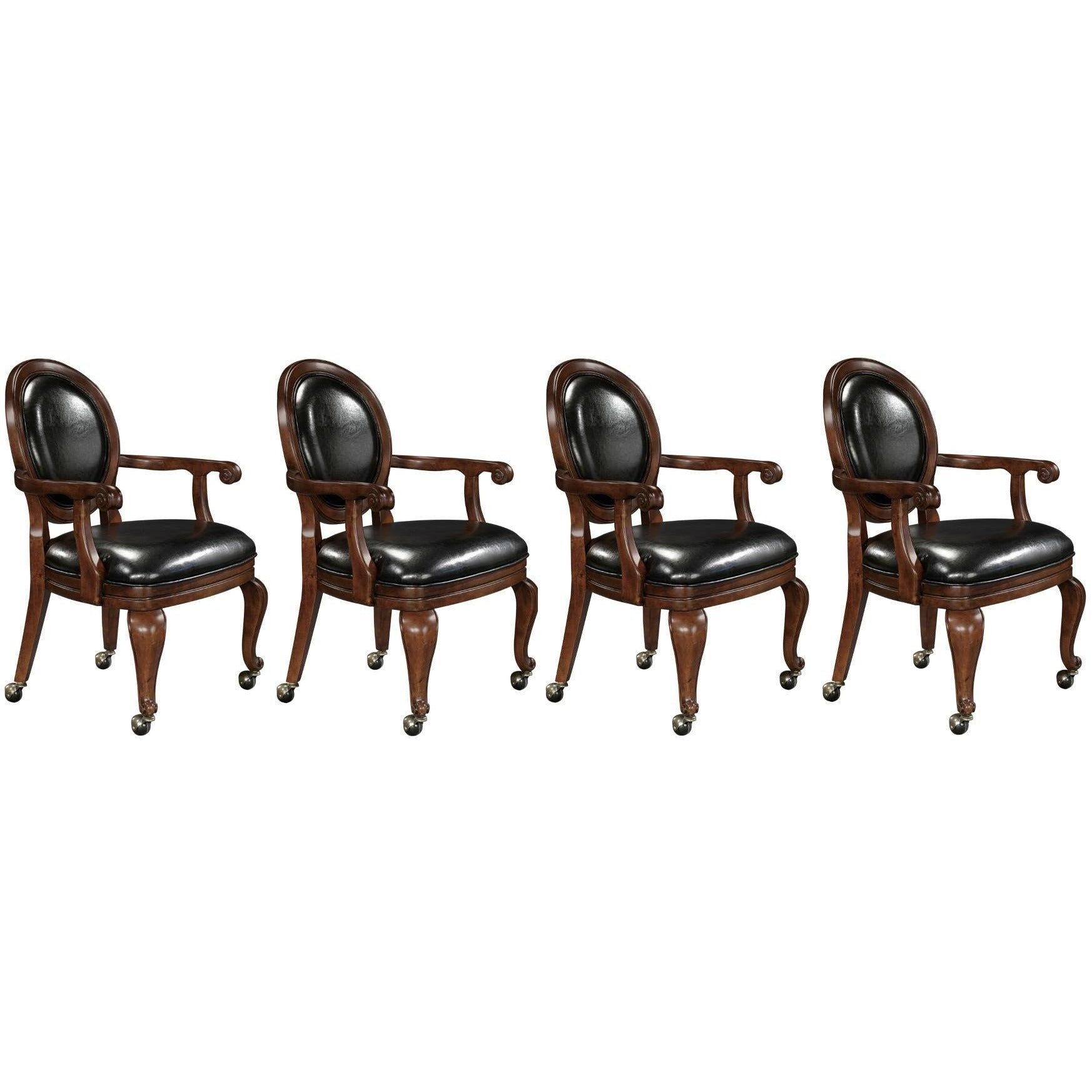 Set of four 4 or six 6 niagara club chairs by howard for 12 seater poker table