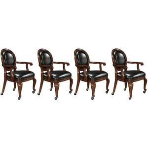 Set of Four (4) or Six (6) Niagara Club Chairs by Howard Miller - AMERICANA POKER TABLES