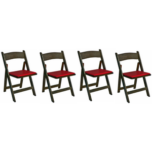 Poker Chair Set of 4 or 6 Oak Kestell Folding Chairs - AMERICANA POKER TABLES