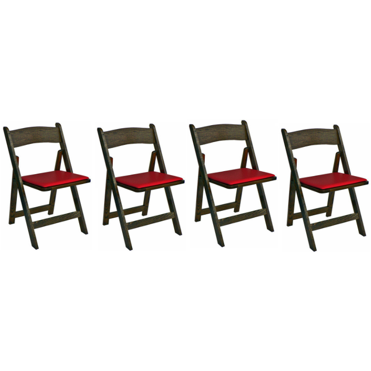 Poker Chair Set of 4 or 6 Oak Kestell Folding Chairs