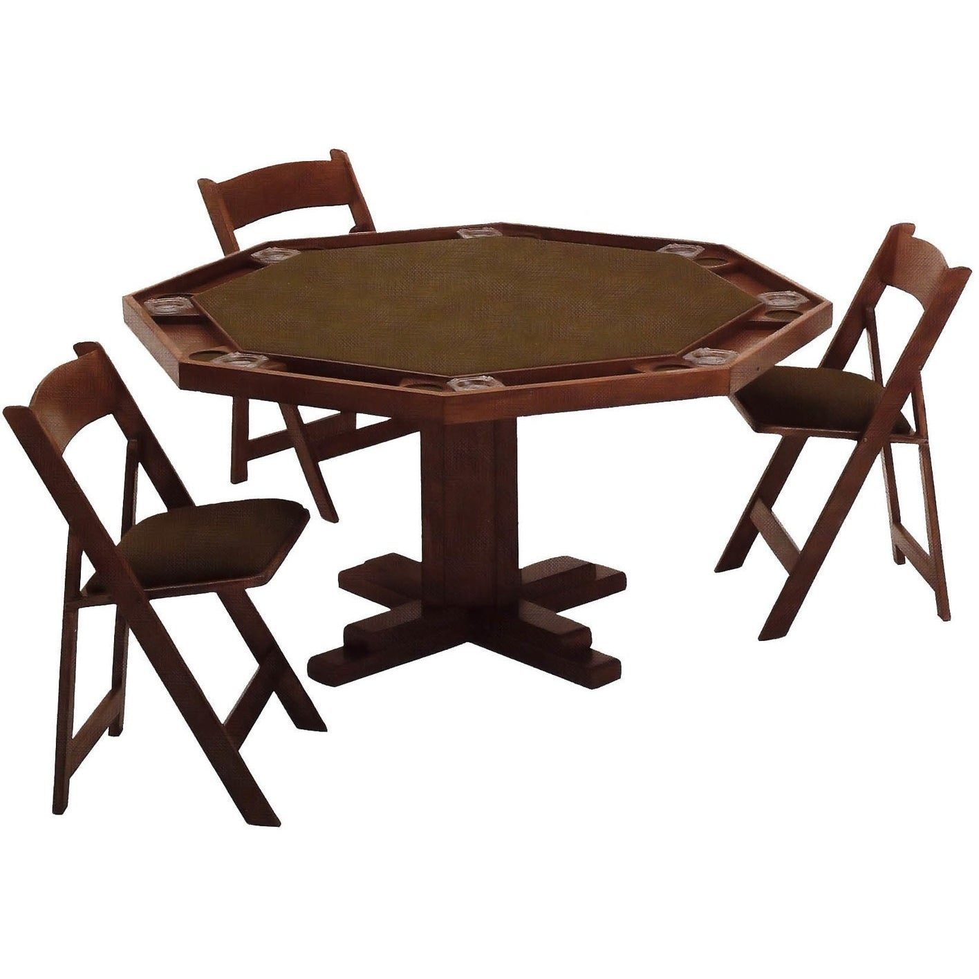 Poker table chairs -  Maple Poker Table By Kestell With Pedestal Base Americana Poker Tables