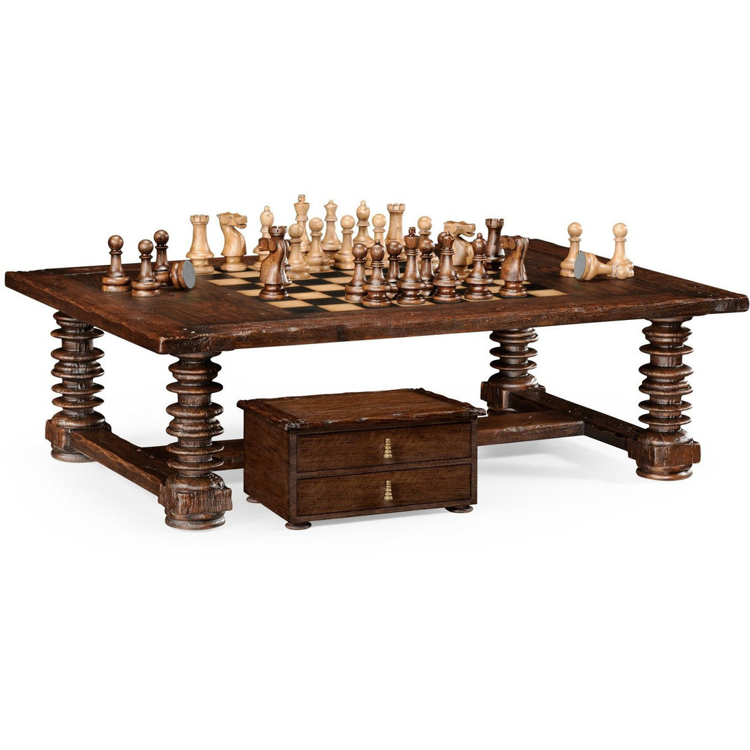 Chess & Coffee Table by Jonathan Charles - Americana Poker Tables