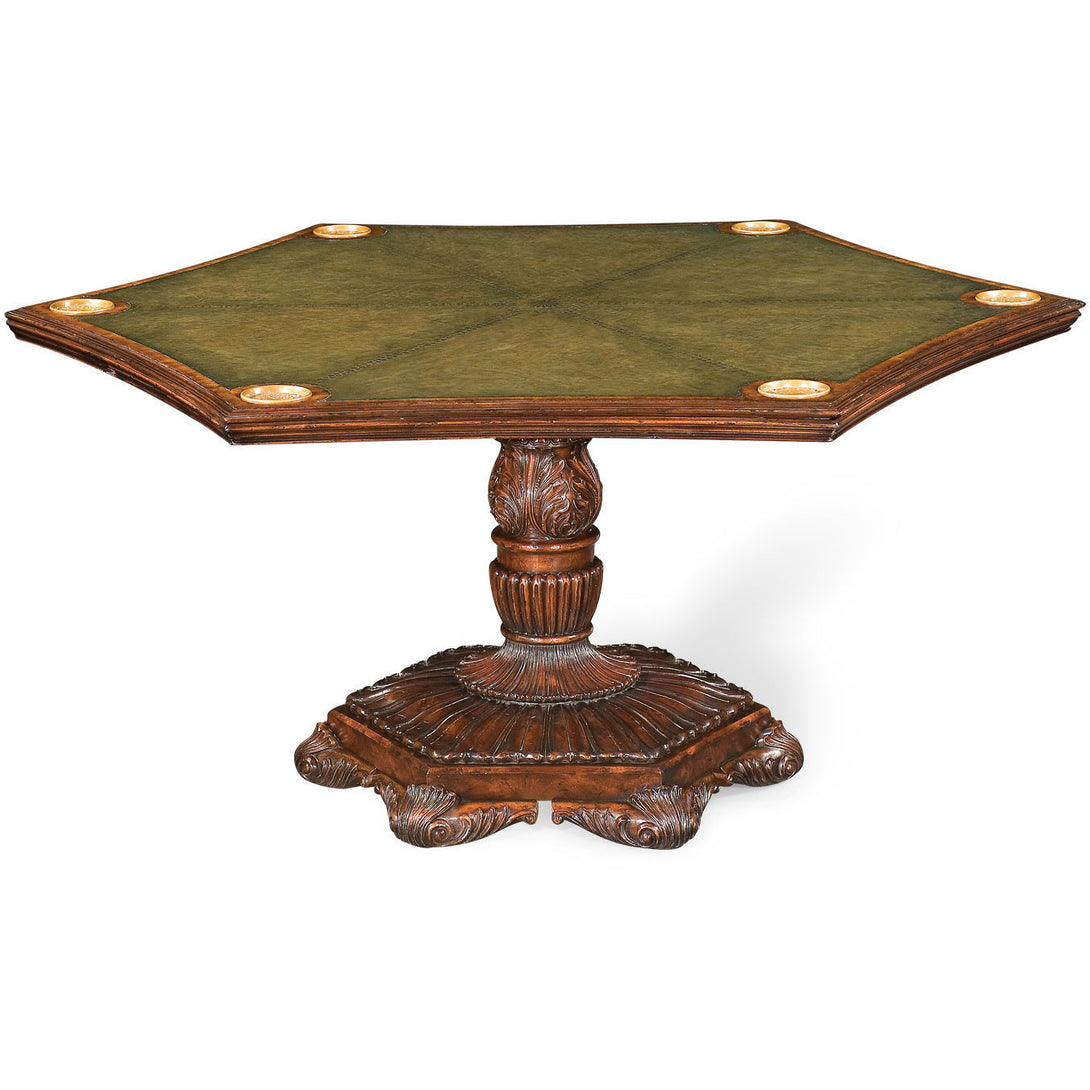 Convertible Poker Table and Dining Table by Jonathan Charles - Americana Poker Tables