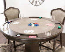 Convertible Round Counter Height Dining, Chess and Poker Table Set Vegas With 4 matching chairs by Sunset Trading